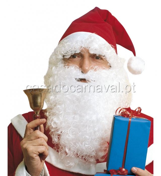 gorro e barba pai natal natal catalogo a casa do carnaval