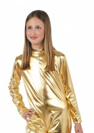 Fato Justo Criança Metalizado Lycra Prata e Ouro - Carnaval ... 54ad12e7b2